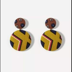 Jewelry - Geometric Round Drop Earrings! PERFECT FOR FALL 🍁